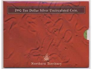 1992 Northern Territory Silver Ten Dollar Coin