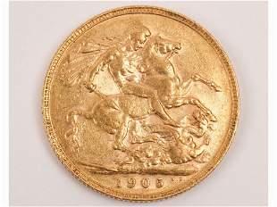 1905 Perth Mint 22K Gold Full Sovereign
