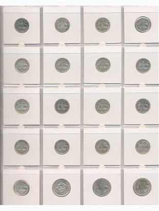 Twenty Pre 1945 Sterling Silver Coins