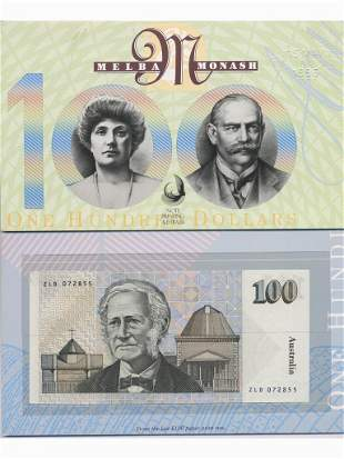 1996 $100 Dollar Last Paper & First Polymer Notes