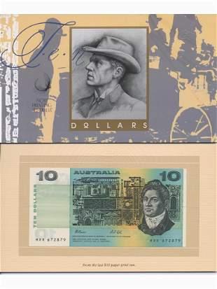 1993 Ten Dollar Last Paper & First Polymer Notes