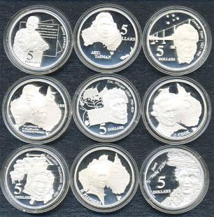 Australian .925 Silver Collector Coins (9)