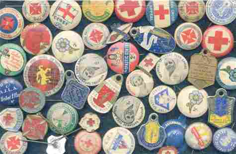 Early Red Cross, Legacy Pins & Club Badges