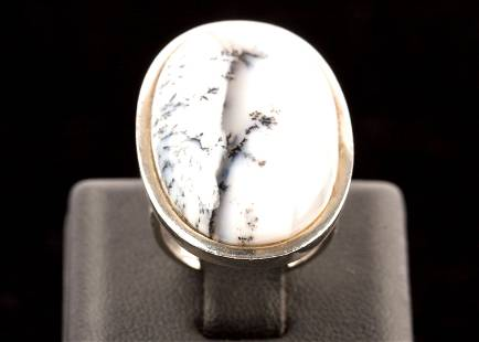 Agate & Sterling Silver Ring