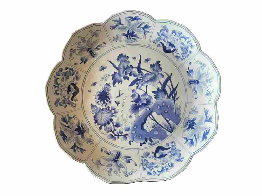 Chelsea House Blue and White Scalloped Plate
