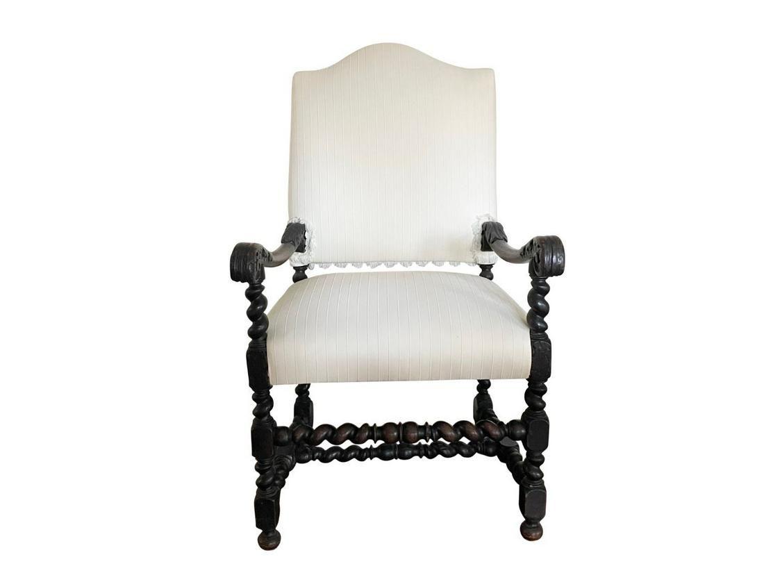 Barley Twist Throne Chair