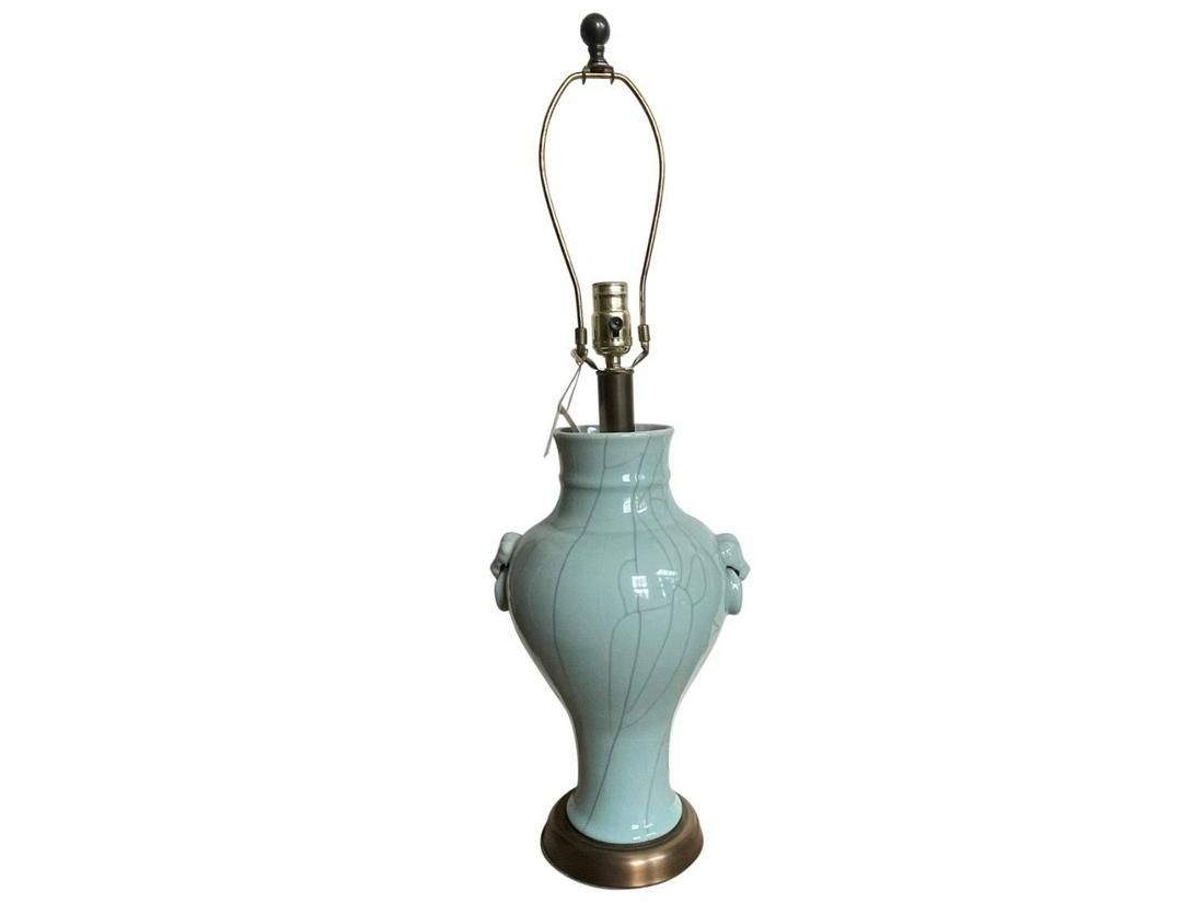Celadon Crackle Glaze Table Lamp