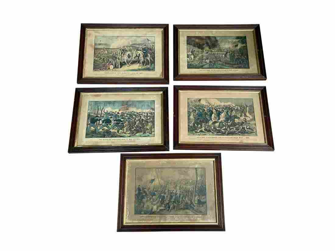 Currier & Ives Hand-Colored Civil War Lithographs
