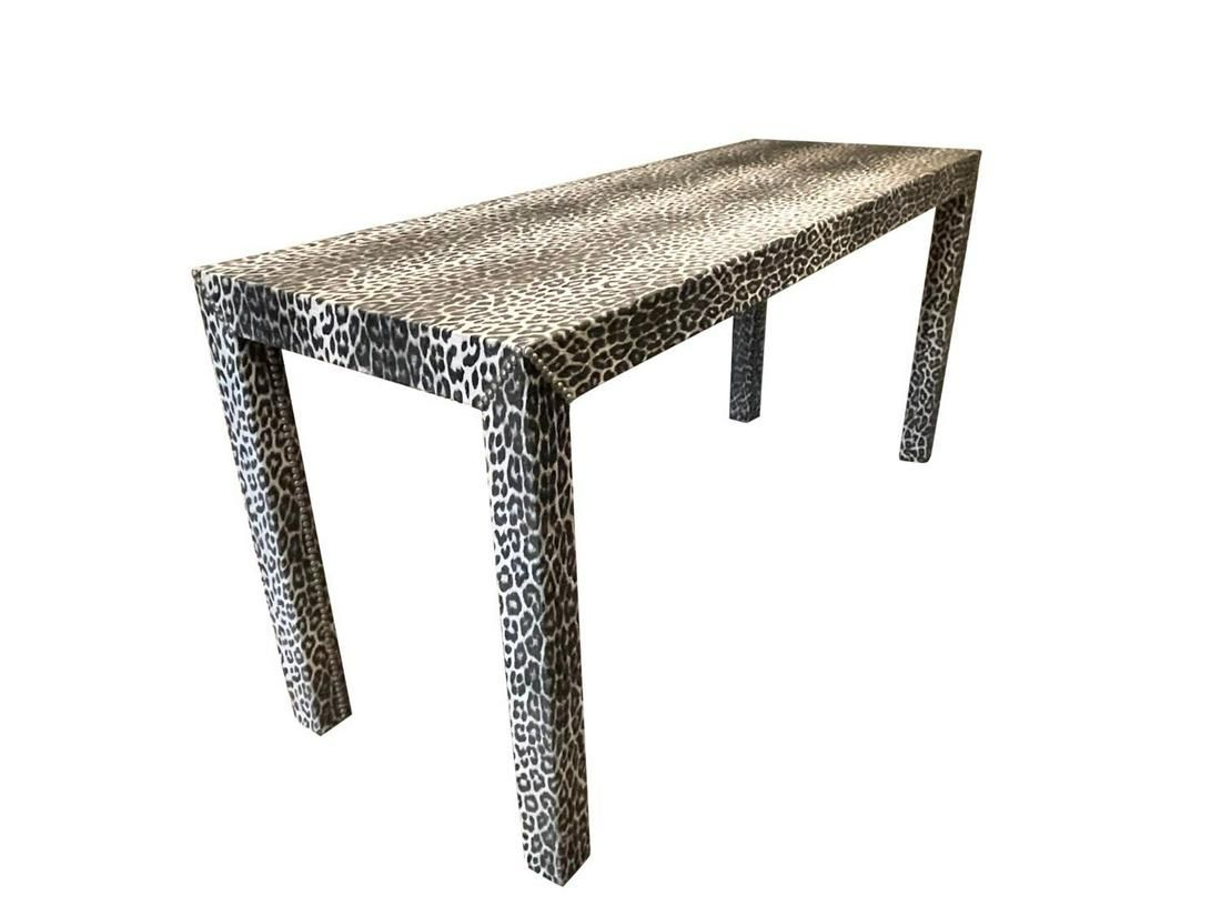Leopard Console with Nailheads