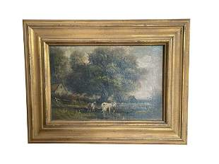 John Parker Davis, Pastoral Landscape, Oil on Canvas