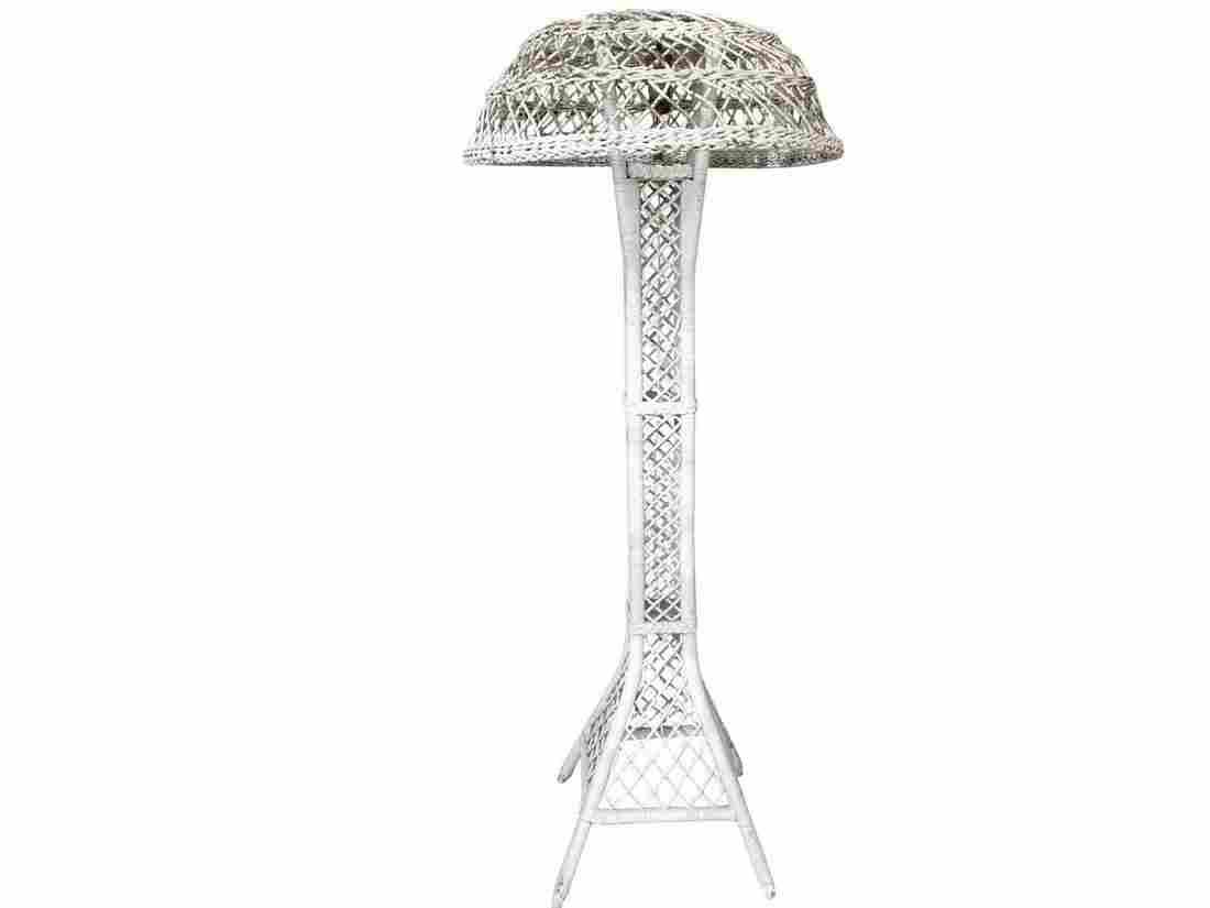 Antique Wicker Floor Lamp
