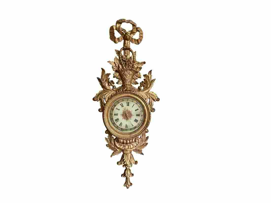Carved Giltwood Wall Clock