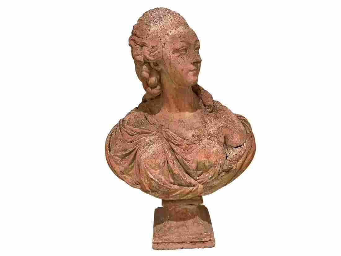 French Terracotta Bust of Madame du Barry
