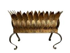 Hollywood Regency Mid Century Gilt Metal Planter