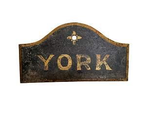 Vintage YORK Sign