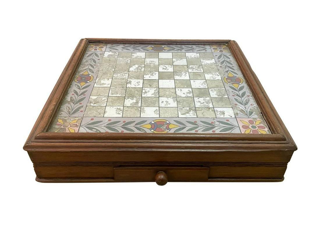 Vintage Eglomise Checkerboard