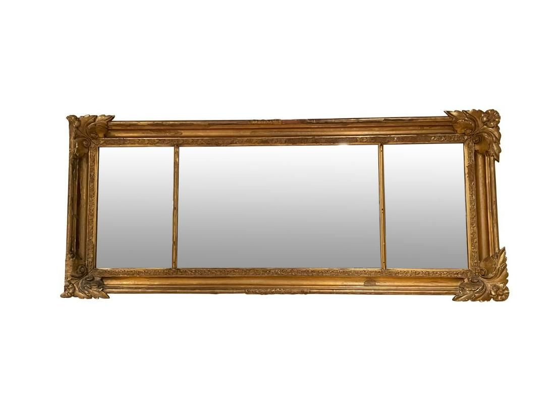 Giltwood Over Mantle Mirror