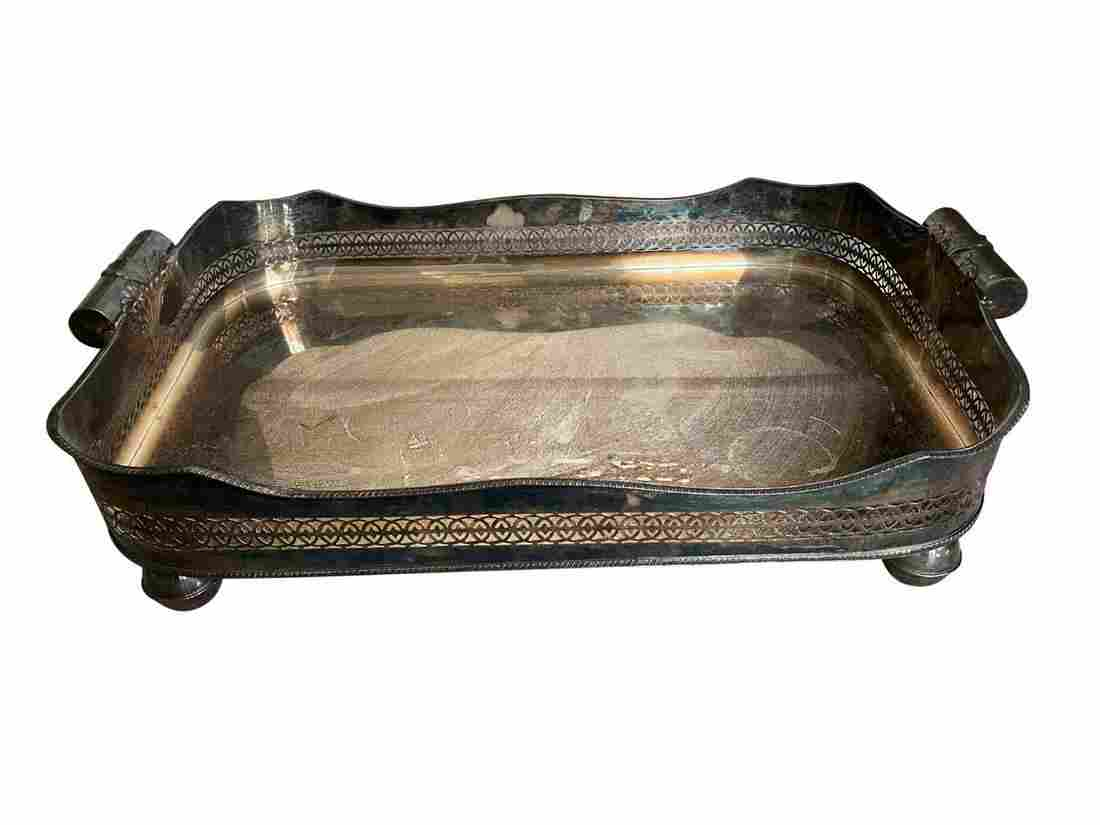 Silver Plated Rectangular Footed Tray