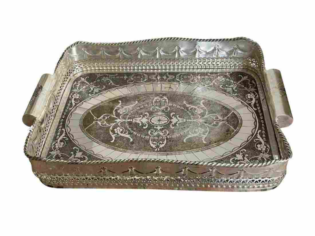 Castilian Imports Silver Plated Serving Tray
