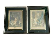 Framed Prints of French Figures, Set of 2