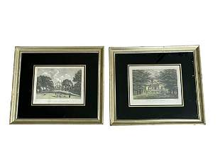 Framed Prints of Noble Homes, Set of 2
