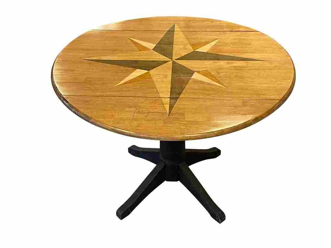 Inlaid Star Drop Leaf Table
