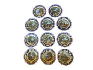 Royal Vienna Plates of Greek Odysseus, Set of 11