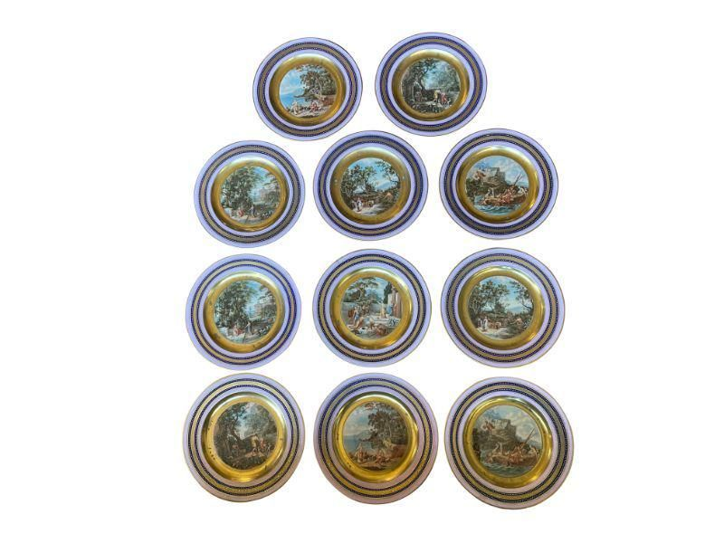 Royal Vienna Plates of Greek Odysseus, Set of 11