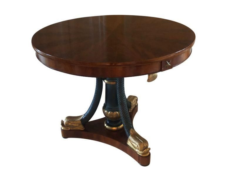 Center Table with Triple Gilded Dolphin Base