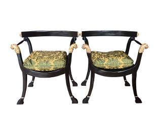 Michael Taylor Thieriot Chairs, Pair
