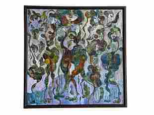 Oil on Canvas, Wild Flowers, by Leon Oks