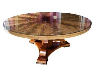 72in Flame Mahogany Single Pedestal Dining Table