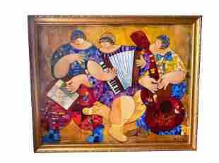 Trio, by Dorit Levi, Original Painting