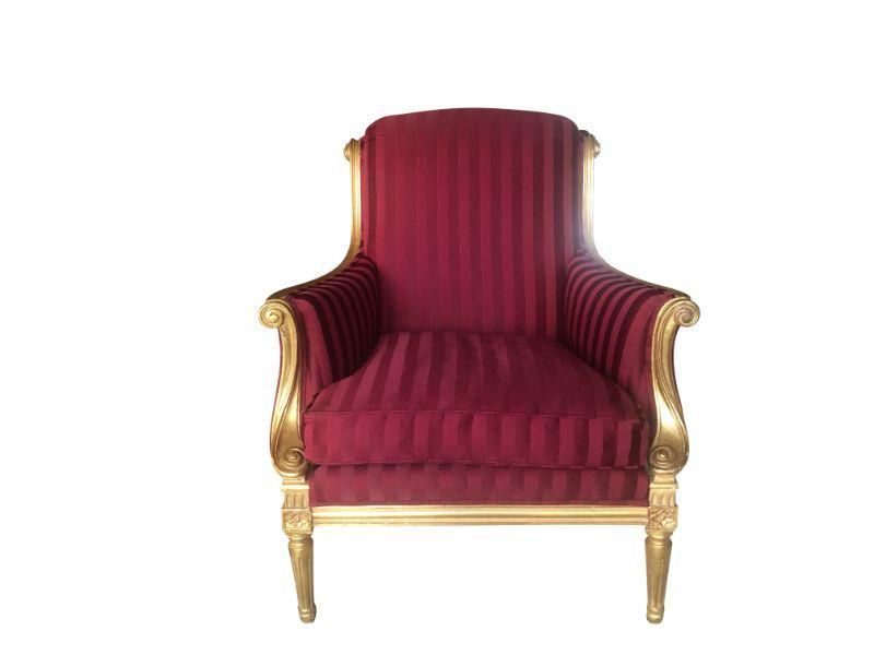 Gilded Frame Bergere Chair