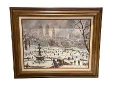 Robert Lebron Original Oil Painting of Central Park
