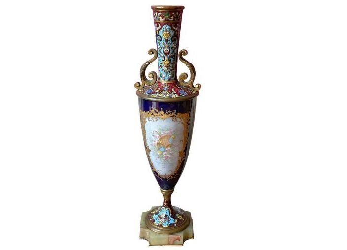 French Champleve Sevres