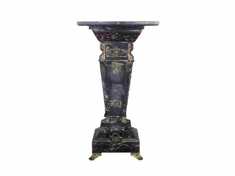 Marble Pedestal Stand With Bronze Mounts