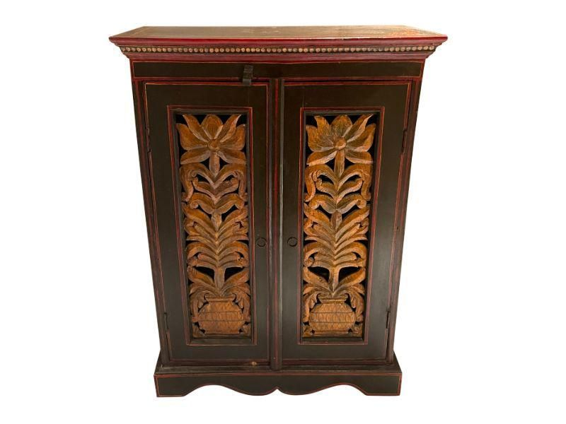 Carved and Painted Cabinet