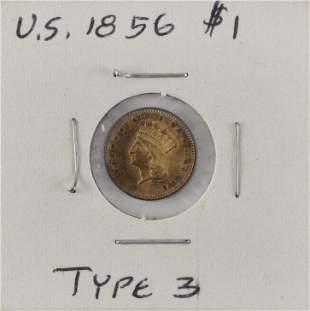 U.S. 1856 ONE-DOLLAR GOLD PIECE Type III. EF.