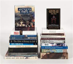 APPROX. TWENTY BOOKS ON ANTIQUES Sizes, bindings and