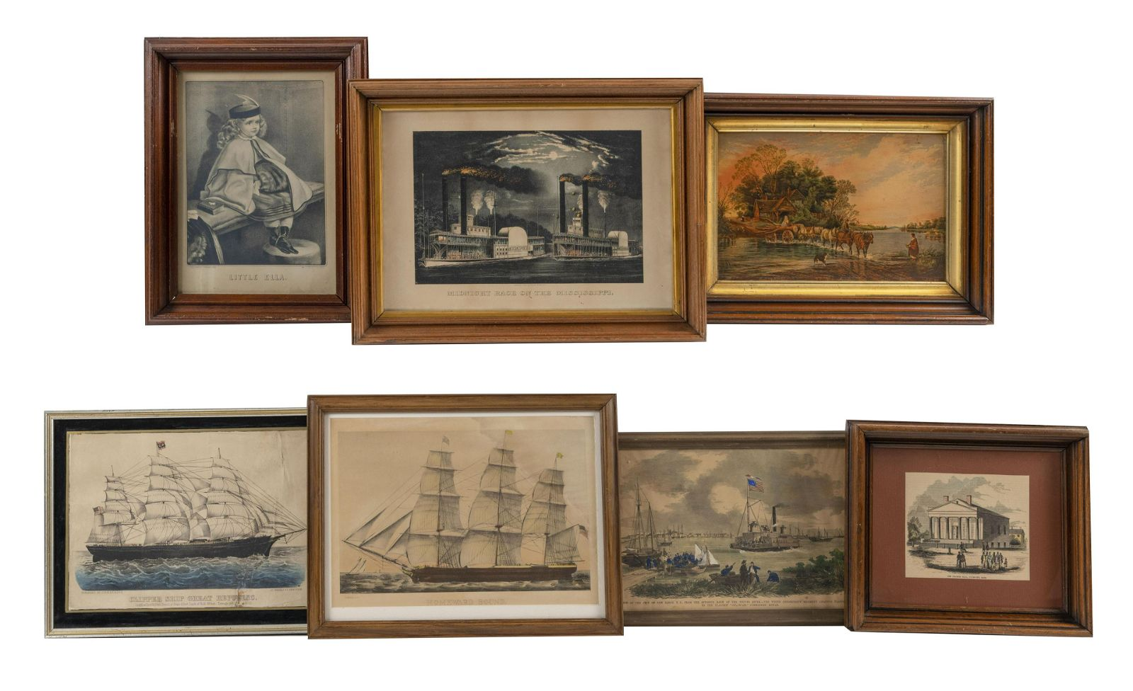 SEVEN ASSORTED PRINTS Includes a Prang print, four