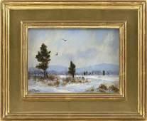 "WILLIAM R. DAVIS, Massachusetts, b. 1952, ""Two Crows"".,"