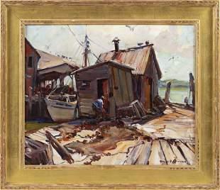 """EMILE ALBERT GRUPPE, Massachusetts, 1896-1978, """"Fish"""