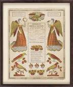 PENNSYLVANIA DUTCH FRAKTUR Circa 1847 Birth and