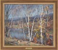 """EMILE ALBERT GRUPPE, Massachusetts, 1896-1978, """"Tree"""