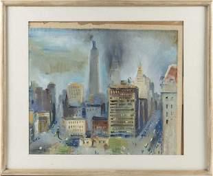 RUDOLF JACOBI, New York/Germany, 1889-1972, View of New
