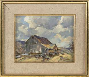 ALEX POPLASKI, Connecticut/Russia, 1906-1988, Landscape