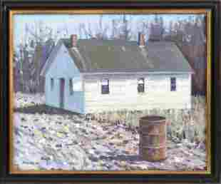 AMERICAN SCHOOL (Dated 1979), Landscape with house.,