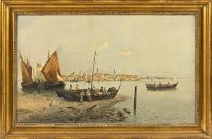 G. RICARDI (Italy, Late 19th Century), Venetian scene.,