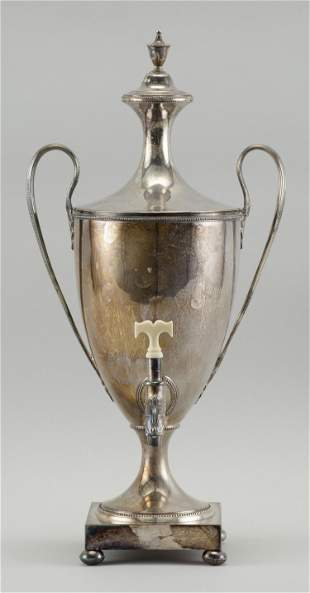 ENGLISH SILVER PLATED HOT WATER URN